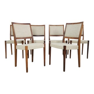 Mid Century Danish Rosewood Chairs- Set of 6 For Sale
