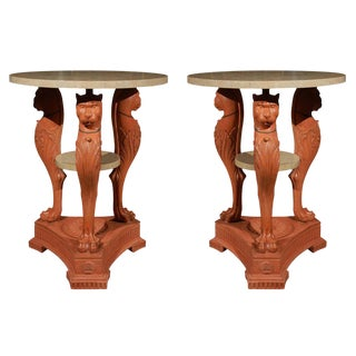 Monumental Egyptian Revival Tables - A Pair For Sale