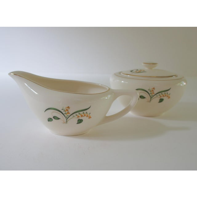 White 1960s Vintage Knowles Forsythia Dinnerware Service Set - 44 Pieces For Sale - Image 8 of 13