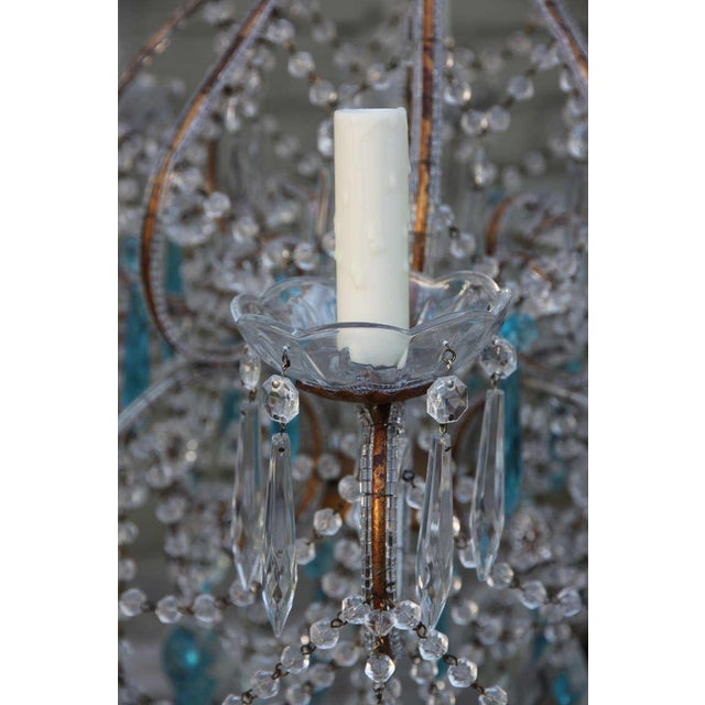 Late 20th Century Italian Crystal Beaded Chandelier $3,400 For Sale - Image 5 of 9