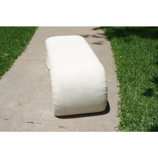 Milo Baughman Style Waterfall Upholstered Bench - Image 5 of 9