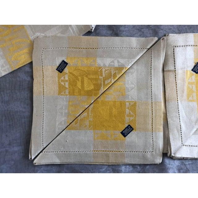 1950s Vintage Damask Linen Napkins - Set of 12 For Sale - Image 5 of 13