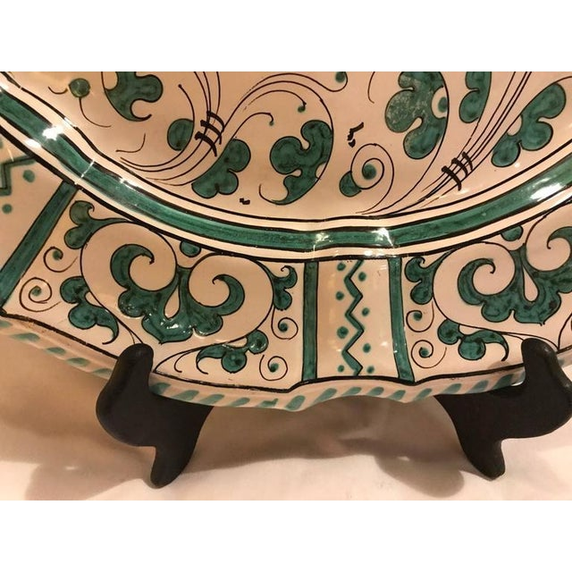 Italian Paint Decorated Platter For Sale - Image 10 of 12
