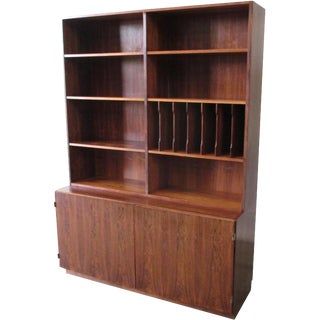 Vintage Mid-Century Modern Bookcase Credenza For Sale