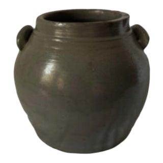 Mid 20th Century Grey Ceramic Jar For Sale