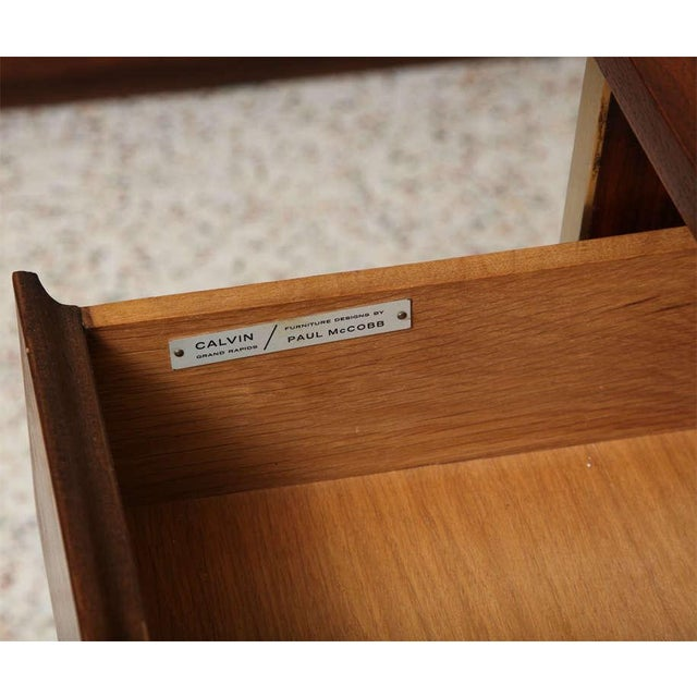 Paul McCobb Calvin Walnut Buffet with Top Cabinet - Image 6 of 8