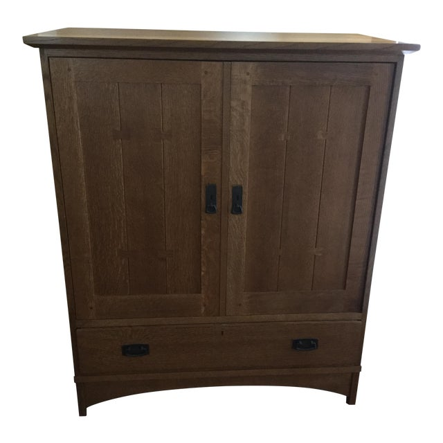 Stickley Mission Style Entertainment Armoire - Image 1 of 9