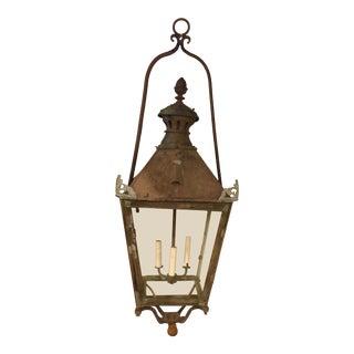 Antique Copper Lantern Chandelier For Sale