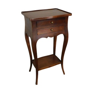 French Louis XV Style Fruitwood 2 Drawer Side Table or Nightstand For Sale