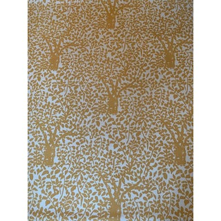 English Traditional Arbre De Matisse for Quadrille on Suncloth Fabric For Sale