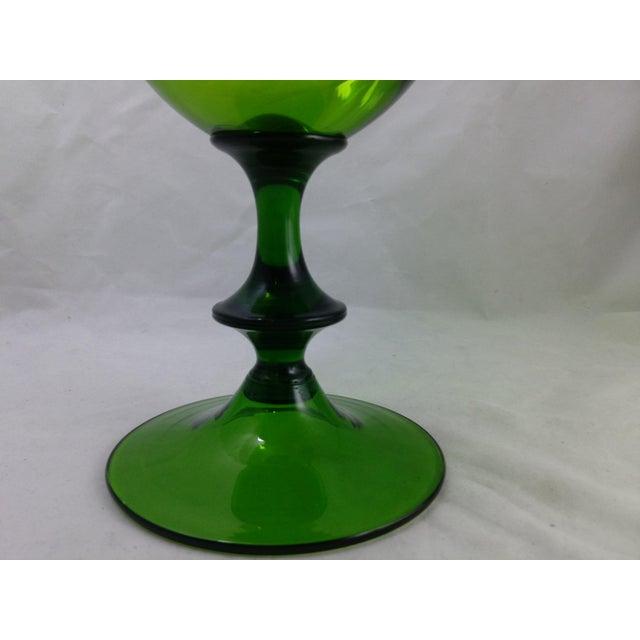 Empoli Italian Art Glass Apothecary Candy Jar - Image 9 of 11