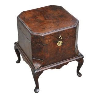 Early 18th Century George II Burl Walnut Wine Cellarette For Sale