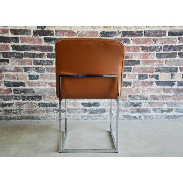 Mid 20th Century Vintage Mid-Century Milo Baughman Chrome & Upholstered Side Chairs - A Pair For Sale - Image 5 of 6