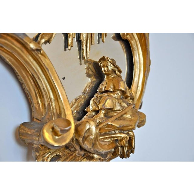 Pair of 18th Century Girandole Mirrors Attributed to Thomas Johnson For Sale In Boston - Image 6 of 11