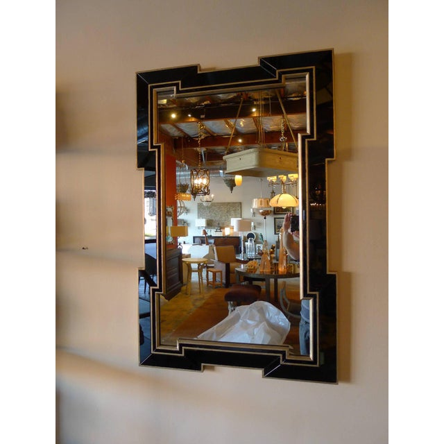 Paul Marra Design Greek Key Mirror with Black Mirror Border - Image 2 of 5