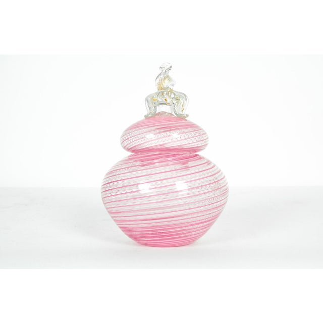 Mid 20th Century Vintage Murano Glass Vanity Jar For Sale - Image 5 of 5