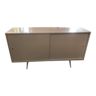 Paul McCobb Sliding Doors on Pencil Leg Platform Sideboard