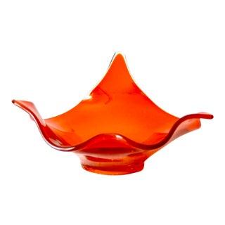 Mid-Century Orange Viking Art Glass Bowl For Sale