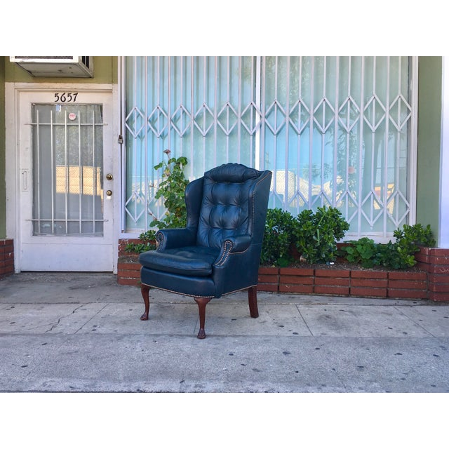 Vintage Tufted Leather Chairs - A Pair - Image 6 of 7