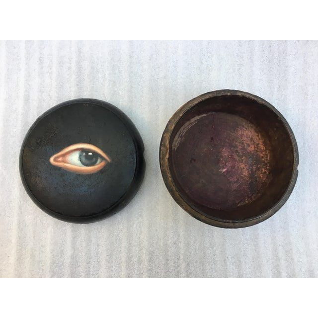 Geisha Face Powder Box with Painted Eye - Image 5 of 7