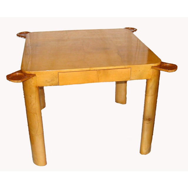 Goatskin Game/Card Table, Attributed to Karl Springer For Sale - Image 9 of 9