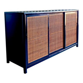 Michael Taylor for Baker New World Mahogany Cabinet For Sale