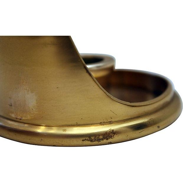 Sculptural Brass Candle Holder - Image 5 of 6