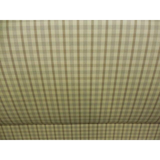 Upholstered Plaid King Headboard - Image 4 of 5