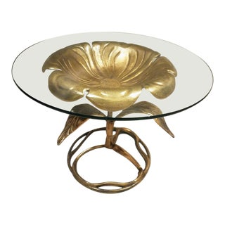 Sculptural Brass Occasional Table For Sale