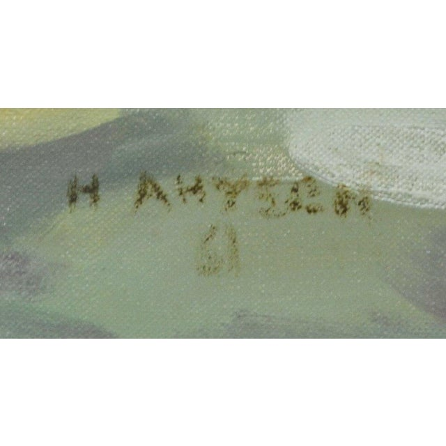 """H. Ahysen """"Menhaden Boats"""" Painting For Sale - Image 5 of 5"""