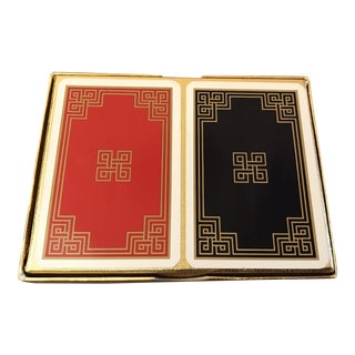 Vintage Greek Key Boxed Set Playing Card Decks For Sale