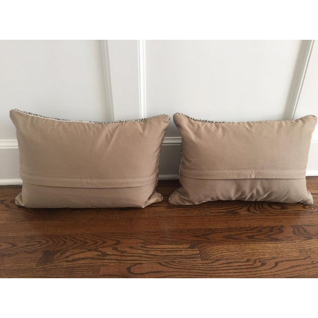 Ivory & Gray Kilim Pillows - A Pair - Image 5 of 5