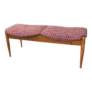 Mid-Century Two Seat Bench by John Stuart For Sale