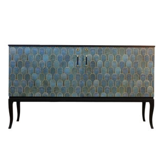 1930's Style Patterned Sideboard By DaVinci Collection For Sale