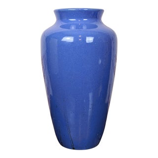 Early Zanesville Pottery Stoneware Floor Vase For Sale
