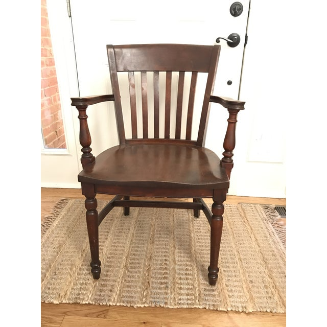Antique Ivan Allen Marshall Co Atlanta Wood Library Office Accent Chair For Sale - Image 12 of 12