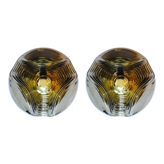 Peill and Putzler Large Space Age Lights - a Pair For Sale