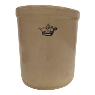 Late 19th Century Antique Stoneware Crock For Sale