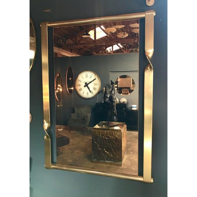 Aldo Frigerio Mirror in Brass, Italy, 1970s - Image 7 of 8