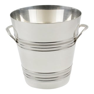 French Art Deco Modernist Silver Plate Champagne Ice Bucket Wine Cooler For Sale