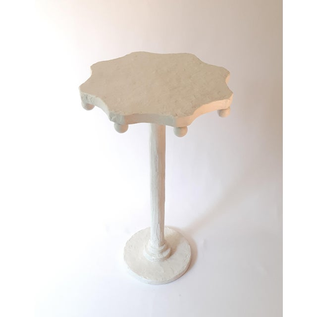 Not Yet Made - Made To Order Modern Artisan Small Accent Table White For Sale - Image 5 of 5