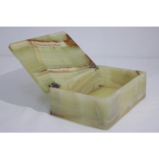 Mid-Century Marbled Onyx Box For Sale - Image 4 of 7