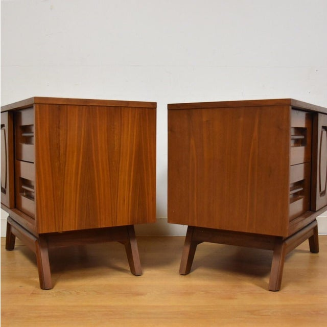 Young Walnut Nightstands - Pair - Image 4 of 10