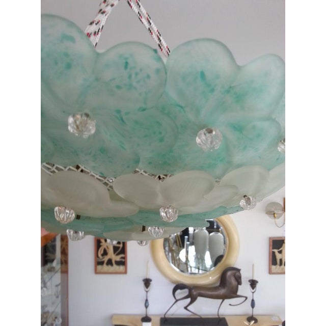 Mid-Century Modern Murano Flush Mount Chandelier Floral For Sale - Image 10 of 12