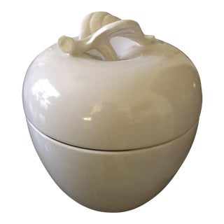 Tiffany by Haeger Porcelain Apple Lidded Jar