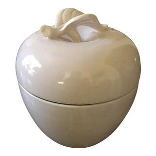 Tiffany by Haeger Porcelain Apple Lidded Jar For Sale