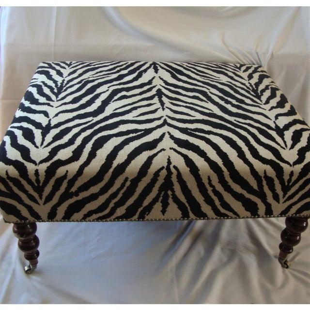 Ralph Lauren Style Zebra Ottoman For Sale In New York - Image 6 of 6