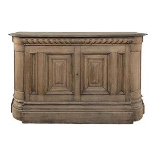 19th Century French Henri II Stripped Oak Buffet For Sale