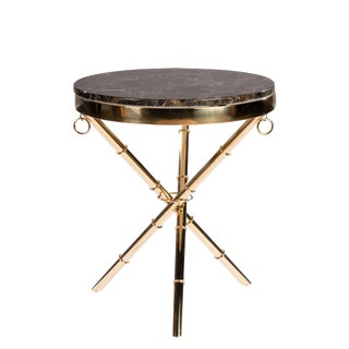 Lexi Marble Top Side Table For Sale