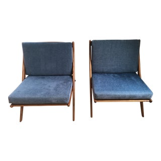 "1960s Folke Olhsson for Dux ""Scissor"" Lounge Chairs - a Pair For Sale"